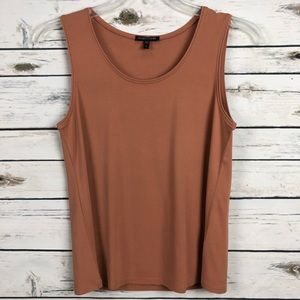 Eileen Fisher small clay sleeveless silk tank Cami